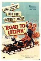 ROAD TO UTOPIA Movie POSTER 27x40 Bing Crosby Bob Hope Dorothy Lamour Jack LaRue