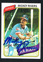 Mickey Rivers #485 signed autograph auto 1980 Topps Baseball Trading Card