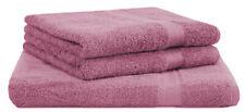 "3-tlg. Sauna Handtuchset ""Premium"" Farbe: altrosa, Qualität 470 g/m², 1 Saunatuc"