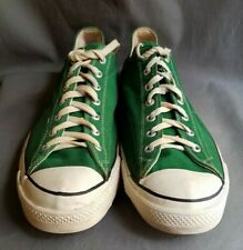 Vintage 1980's Green Converse Chuck Taylor All-Star Low Top Sneakers Sz-16 Usa