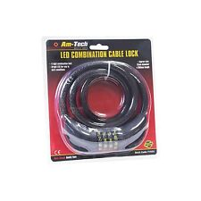 12MM THICK LED LIGHT LOCK STEEL CABLE COMBINATION BIKE SECURITY CHAIN 12MMX900MM