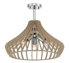 Designers Fountain Sanaa 3-Light Kula Wood Semi-Flush Mount