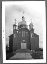 VINTAGE 1964 CHURCH IN ETHELBERT MANITOBA CANADA HISTORIC OLD BUILDING PHOTO