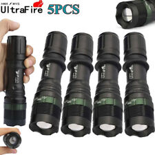 Tactical Ultrafire 50000Lumens T6 LED Zoomable Flashlight Torch 360° Mount Clips