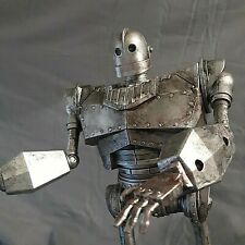 """Custom Painted Iron Giant Weathered Metal 14"""" walking W/ lights & sounds* A1"""