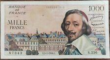 Billets 1000 francs RICHELIEU 5 - 1 - 1956 France S.236