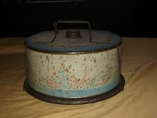 VINTAGE KITCHEN METAL CAKE SAVER SERVER