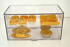 Food Safe Bakery Display Case Stand Cabinet Cakes Pastries - Two Tiers