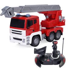 Goplus 1/18 5Ch Remote Con 00004000 trol Rc Resure Fire Engine Truck w/ Extending Ladder
