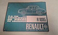Rare French Renault Auto Parts De Pieces Catalogue Manual R.1095
