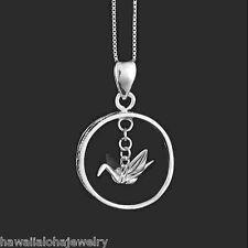 19mm Hawaiian 925 Silver Sadako Peace Crane Open Wings Origami Engraved Pendant