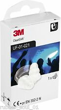 3M E.A.R Clear Earplugs - UF-01-021 - 1 Pair  (FREE UK P&P)