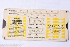 Sylvania Projection Lamp Rule Color Temp Change Calculator Rule - VINTAGE B47