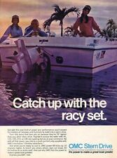 1971 Vintage OMC Stern Drive Outboard Marine Boat PRINT AD T