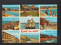 LUC-sur-MER (14) GRAND-HOTEL , CASINO & PISCINE animée en 1975