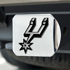 San Antonio Spurs Heavy Duty Chromed Metal Hitch Cover with 3D Logo