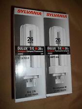 PAIR OF SYLVANIA DULUX T/E 26 WATT 20882 AMALGAM COMPACT FLUORESCENT BULBS (2)