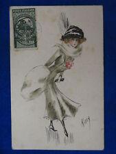 DONNINA Lady Charme illustrata Kaby affrancatura interessante viagg 1911 #14686