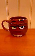 Large M&M's Brown Ceramic Embossed Mug New