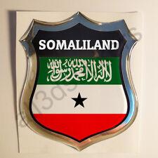 Sticker Somaliland Emblem 3D Resin Domed Gel Somaliland Flag Vinyl Decal Car