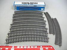 ai197-0,5 #10x Märklin / Marklin H0 2221 piezas de vía ( PISTA K,CURVO ),NUEVO +