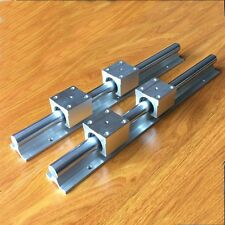2Pcs SBR20-200mm 20mm Linear Slide Rail Shaft + 4Pcs SBR20UU Bearing Block CNC