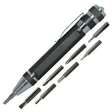 8 in 1 Precision Pocket Screwdriver with LED Light