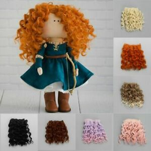 Mini Tresses High-Temperature Screw Periwig Curly Wigs Toy Toupee Doll Hair