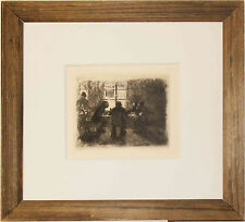 Listed German Artist Kathe Kollwitz Original Etching, A.V.D. Becke