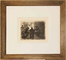Listed German Artist Kathe Kollwitz Original Etching, A.V.D. Becke