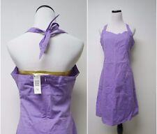 NWT Route 66  purple halter cotton dress . women's size 12