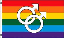 Double Mars Large Rainbow Flag Gay Pride Lesbian Lgbt 3x5 Polyester