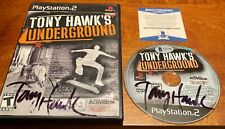 Tony Hawk Signed Underground Playstation 2 Video Game BAS Beckett COA Autograph