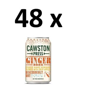 48 x Cawston Press Sparkling Ginger Beer Drink Cans 330ml FULL CASE BBE 30/04/21