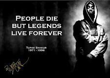 Tupac People Die Inspirational Quote A4 poster 260gsm