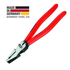 """Knipex 8"""" Lineman's Combination Pliers High Leverage w Side Cutter 0201200"""