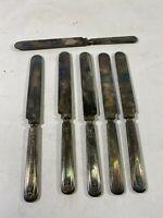 """6 Vintage Rogers 1881 Knife Knives LOT Flatware Silverware 9-1/4"""""""