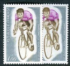 Variété Mondial cyclisme de 1972 N° 1724 brun clair et brun foncé.Superbe nuance