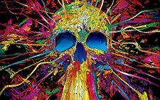 Cráneo psicodélico A3 Poster Print 260GSM