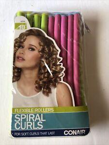 Conair Spiral Curls Foam Hair Rollers, 18 ct - Flexible Rods, Hair Curlers