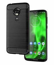 3bc139b48 For Motorola Moto G7 Power Case Carbon Fibre Cover & Glass Screen Protector