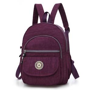 Women Waterproof Mini Backpack Purse Adjustable Strap Shoulder Travel Rucksack