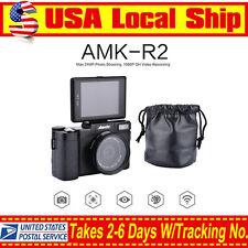 AMKOV AMK-R2 24MP 1080P Digital SLR DSLR Camera+Wide-angle Lens Camcorder DVR US