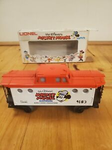 Vintage Lionel Disney Mickey Mouse Express Caboose 6-9183 New Open Box