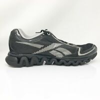 Reebok Mens ZigLite Run J90823 Black Grey Running Shoes Lace Up Low Top Size 11