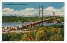 Narrows Bridge, Tacoma ,Washington. K3669 SMITHS SENIC VIEWS 1940's