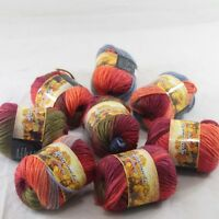 SALE 8 Skeins x 50gr NEW Chunky Colorful Hand Knitting Wool Yarn 821 Army Green