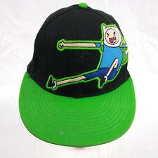 Cartoon Network Finn Black and Green Baseball Cap Tek Flex Slamacow One Size