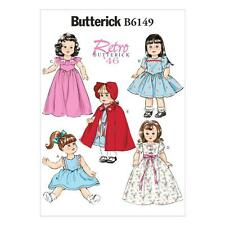 BUTTERICK SEWING PATTERN RETRO VINTAGE 1946 40s DOLLS CLOTHES DRESS B6149