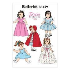 Butterick sewing pattern retro vintage 1946 40s poupées vêtements robe B6149